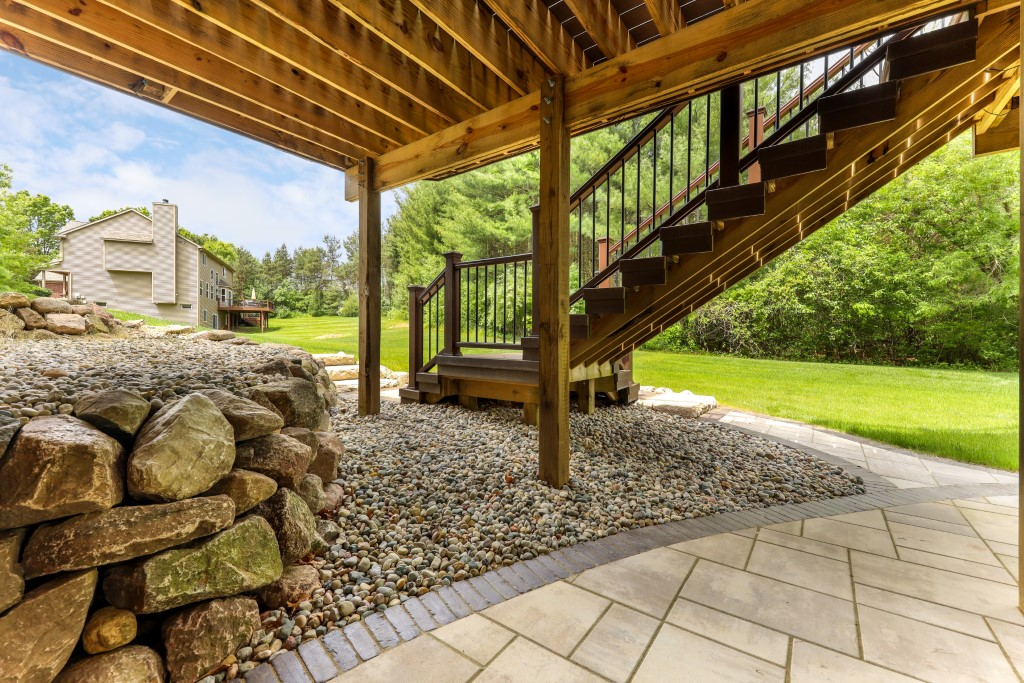 Paver Patio and Boulder Wall in Brighton