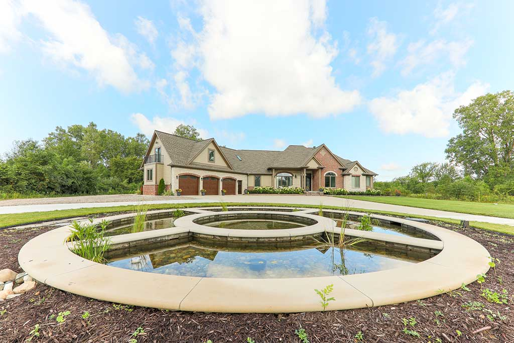 Striking Fountain Water Feature in Northville