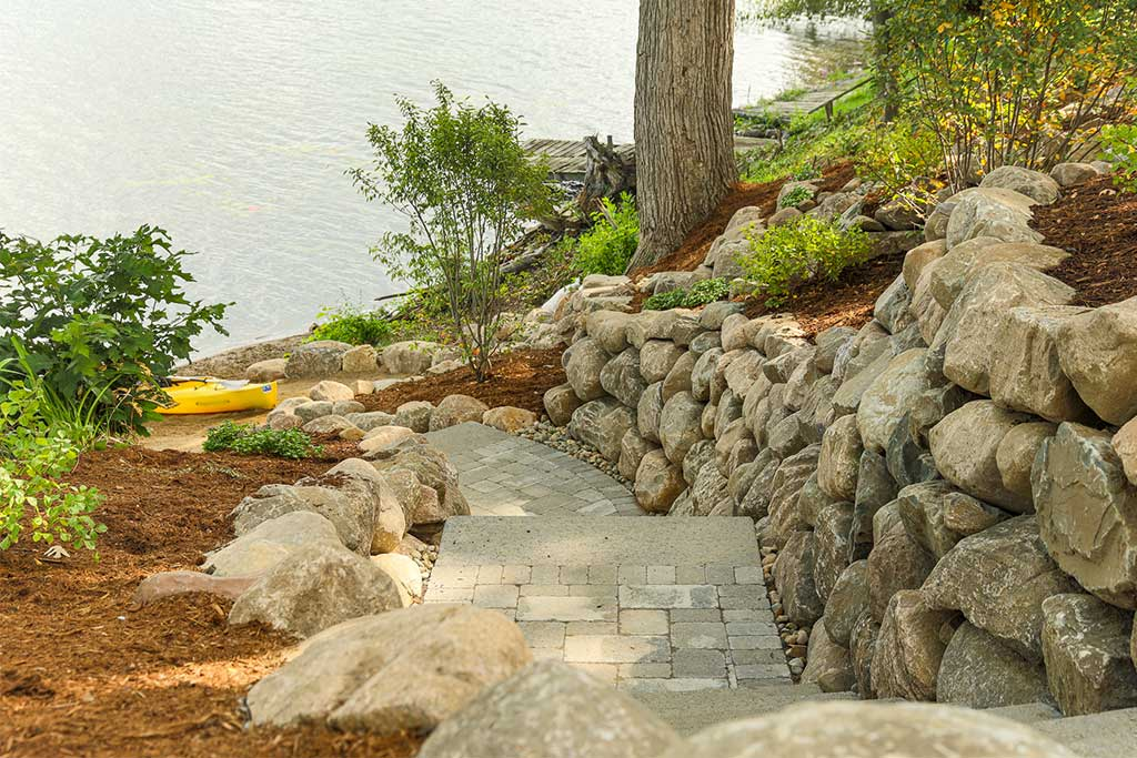 Beautiful and Functional Paver Stairway and Patio in Brighton