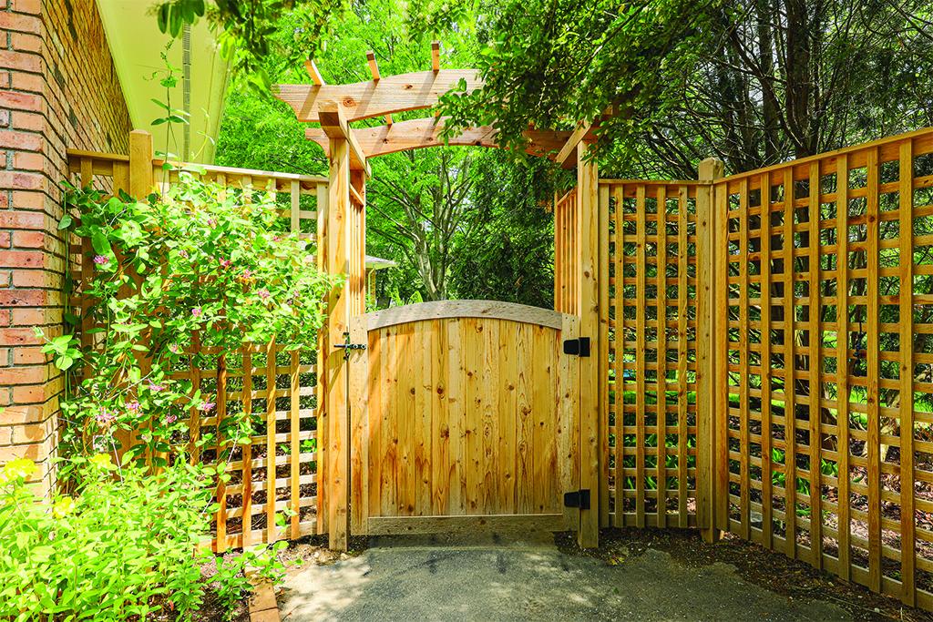 Cedar Arbor and Gate in Ann Arbor
