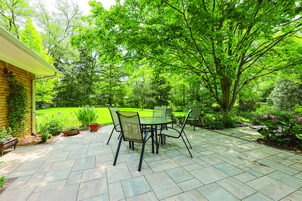 Upgraded Stone Walkway and Paver Patio in Ann Arbor